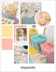 Celebrate your child's birthday with a lovely pastel birthday party! A light color palette makes for the perfect party set-up with endless flower options and cute pastel decorations. Birthday Celebration, Birthday Parties, Pastel Decor, Ball Birthday, Tiny Prints, Unique Invitations, Custom Cards, Perfect Party, Birthday Party Invitations