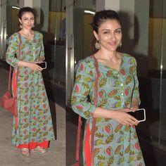 Soha Ali Khan snapped post #soundproof #screening in #Juhu #mumbai #lastnight