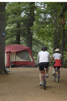 Bike riding at Fish Creek Pond Campground - NYSDEC Campgrounds