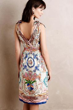 Tied Acionna Silk Dress - anthropologie.com