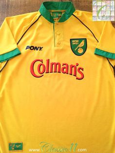 Relive Norwich City's season with this vintage Pony home football shirt. Old Football Shirts, Norwich City Football, How To Memorize Things, Polo Ralph Lauren, Pony, Mens Tops, Retro, Store, Classic