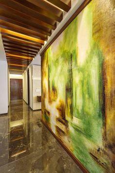 Casa Manantiales: Pasillo, hall y escaleras de estilo translation missing: mx.style.pasillo-hall-y-escaleras.moderno por Enrique Cabrera Arquitecto
