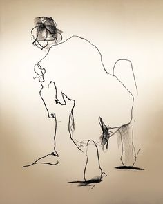 "CLEANING CLARA - 2 min position  Lefty Nude Art  ""My art is drawn with the 'wrong' hand to let go and not get stuck in details and perfection. All positions are between 30 seconds and 5 minutes.""  #croquis #kroki #nudeart #charcoal #art #lifedrawing #leftynudeart #malinhelgesson #misslefty"