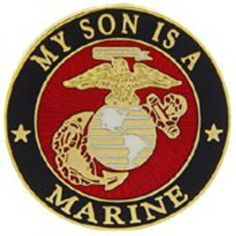 """U.S.M.C. Logo My Son Is A Marine Pin 1"""" by FindingKing. $8.99. This is a new U.S.M.C. Logo My Son Is A Marine Pin 1"""""""