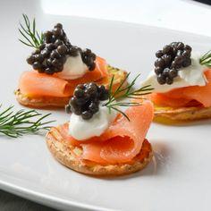 Elegant smoked salmon canapes