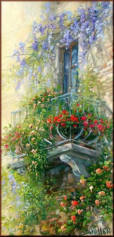 B orn in Talsamo ( Taranto province, Southern Italy ) and a livornese adoptee, Antonietta Varallo approaches painting when she was just fi. Art Floral, Pintura Exterior, Creation Photo, Beautiful Paintings, Love Art, Painting Inspiration, Painting & Drawing, Watercolor Paintings, Watercolors