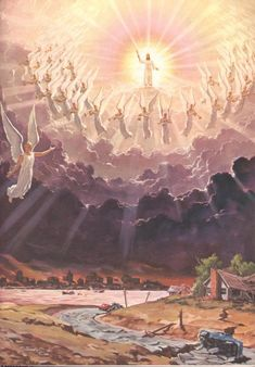 I like this picture because it shows Jesus descending from heaven coming to Earth for his sons and daughters. Its a moment that no one knows when it will happen.