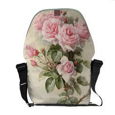 #Vintage Victorian Romantic #Roses Courier #Bag