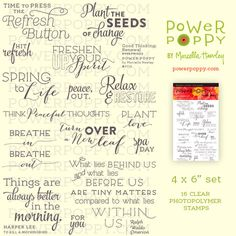 Good Thinking: Renewal Stamp Set from Power Poppy by Marcella Hawley