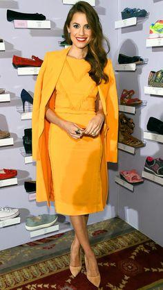 Allison Williams in a yellow Altuzarra dress and jacket