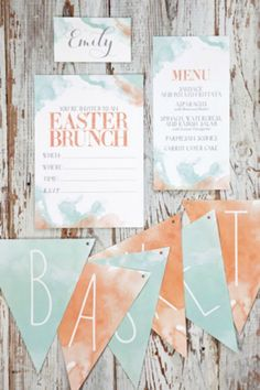 Easter on the Lawn Party Printables