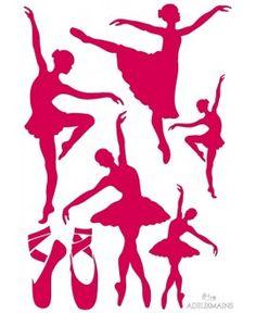 Pochoir Danse (A4) ADEUXMAINS