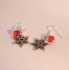 Swarovski Crystal Jewelry  Christmas Earrings  by kippyskreations, $5.00