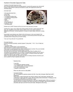 Houlihan's Chocolate Cappuccino Cake