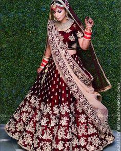 Lovely Wine & Maroon Raw Silk Lehenga Choli with Zari & Resham Embroidery Indian Lehenga, Indian Wedding Lehenga, Raw Silk Lehenga, Bridal Lehenga Choli, Lehenga Wedding Bridal, Wedding Wear, Punjabi Wedding Dresses, Sabhyasachi Lehenga, Golden Bridal Lehenga