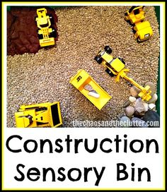 Construction Sensory Bin   The Chaos and the Clutter