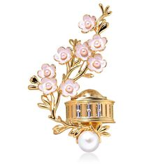 Cherry Blossoms at Jefferson Memorial Pin – Ann Hand