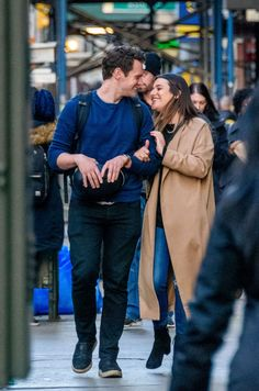 A Glee-ful reunion! Lea Michelle, was all smiles while locking arms with her former co-star Jonathan Groff, on a walk in New York City on Tuesday Jonathan Groff Glee, Jonathan Groff Hamilton, Jonathon Groff, Lea Michele Glee, Jasmine Cephas Jones, Finn Hudson, Glee Club, Rachel Berry, Bae