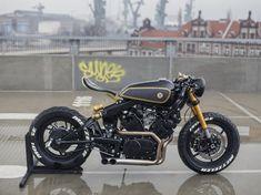 Yamaha Virago 'Twins' by Moose Motodesign - Motorrad - Motocicletas Cafe Racer Seat, Cafe Racer Style, Cafe Racer Bikes, Cafe Racer Motorcycle, Motorcycle Design, Retro Motorcycle, Custom Motorcycles, Custom Bikes, Cars And Motorcycles