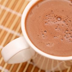 Homemade Hot Chocolate!  This unique, easy recipe has a high protein twist and it's absolutely delish!