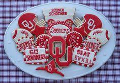 Sooner Cookie sweet treat platter inspiration OU Oklahoma Boomer Beat Texas Football