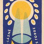 czechoslovakian matchbox label by maraid