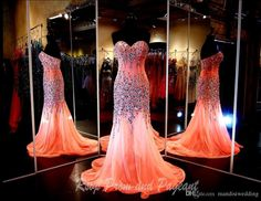 2015 Modern Elegant Design Mermaid Crystal Beads Prom Party Dresses Sweetheart Outdoor Beach Garden Bridal Evening Gowns Cheap Custom Online with $141.37/Piece on Mandisiwedding's Store | DHgate.com