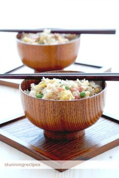 Fried Rice I skip the peas an ham and add tons of green onion once cooked.