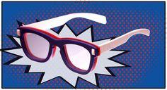Stylishly Protective Eyewear - These UGIAJ Safety Glasses Look Fashionably Chic Four Eyes, Eyewear, Pop Art, Branding Design, Safety, Comic Books, Glasses, Comics, Hot