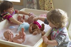 baby bath sensory bin