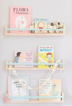 Pretty pastel shelves for a nursery   Petite Vintage Interiors