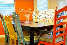 Love the colors and the mismatched pieces.