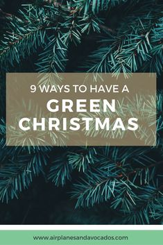 """9 Ways to Have a """"Green"""" Christmas - Airplanes & Avocados"""