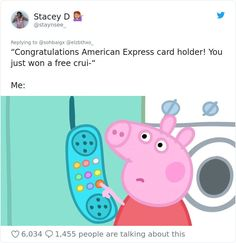 A new angry Peppa Pig meme is making its round around the internet. We've compilated the most funniest one, sprinkled with a few classic Peppa Pig memes. Peppa Pig Painting, Peppa Pig Stickers, Peppa Pig Wallpaper, Peppa Pig Memes, Peppa Pig Funny, Meme Stickers, Aesthetic Stickers, Aesthetic Pics, Quote Aesthetic