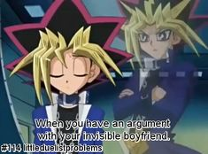 yami yugi fan art - love them they are adorable and are the yugioh version of Bella (Yugi) and Edward (Yami)