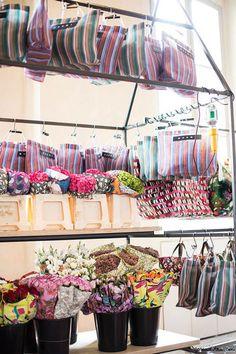 Marni bags, flowers, Marni Flower Market