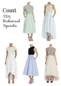 alternative bridesmaid dresses separates