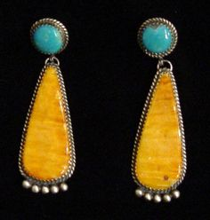 Turquoise & Spiny Oyster earrings  Native American and Southwest Art and JewelryTurquoise Tortoise Gallery, Sedona