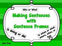 LMN Tree: St. Patrick's Day: Making Sentences with Sentence Frames