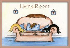 Dachshund Doxie Sausage DOG 5089 Dianne Heap Weiner Living R Door Laminated Sign | eBay