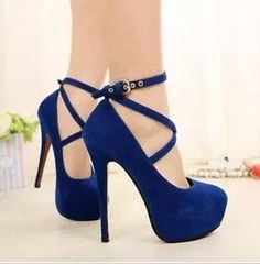 Blue high heels - Shoes and beauty