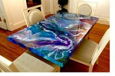 diy table tops epoxy resin table top epoxy resin table tops about remodel perfect home interior Resin Furniture, Painted Furniture, Furniture Vintage, House Furniture, Furniture Stores, Dining Furniture, Garden Furniture, Wood Projects, Woodworking Projects