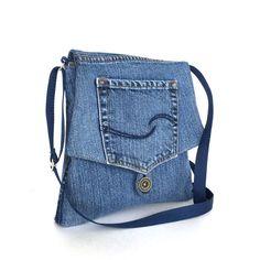 589353d521a Small messenger bag ,Recycled crossbody bag ,Blue jean side purse ,Vegan  denim purse,Eco friendly bag, Canadian seller, sisoi handmade purse