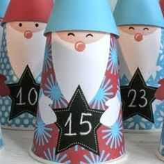 Wichtel Adventskalender Flower Pots, Flowers, Paper Art, Projects To Try, Arts And Crafts, Christmas Ornaments, Holiday Decor, Ladybugs, Crafting