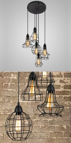 Multi Light Rustic Barn Metal Light