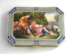 SILVER & ENAMEL BOX VIENNA AUSTRO - HUNGARY c. 1920 John Bull Antiques London, UK www.antique-silver.co.uk Antique Silver Dealer