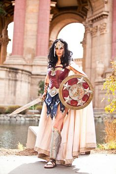 Warrior Wonder Woman costume tutorial by Meagan Marie Dc Cosplay, Best Cosplay, Cosplay Girls, Cosplay Costumes, Halloween Costumes, Ivy Costume, Halloween Couples, Halloween Photos, Cosplay Outfits