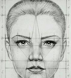 Face Proportions\ Proporciones de la cara от Marina_ | We Heart It