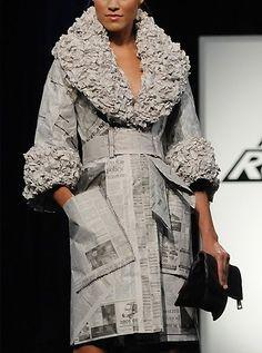 vestido de papel de Irina Shabayeva