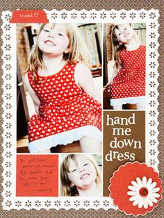 1-page layout for Scrapbooks etc.